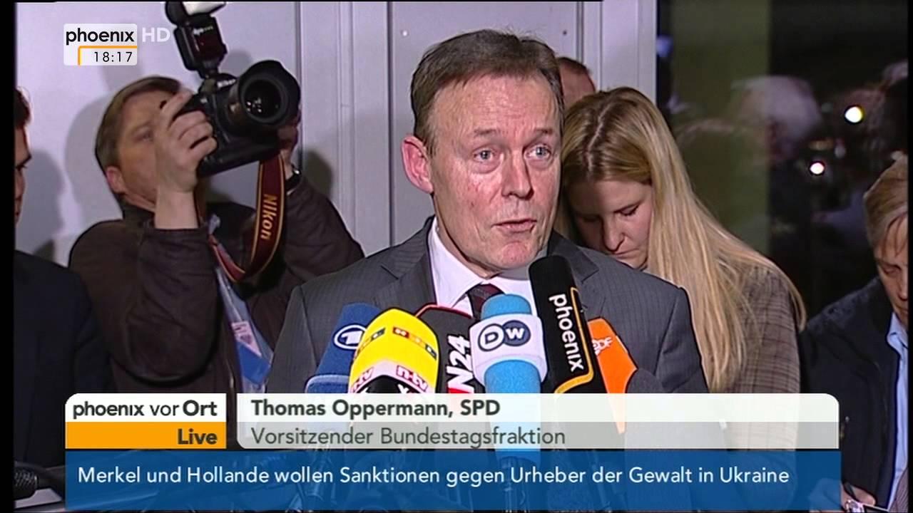 Fall Edathy - Statement von Thomas Oppermann am 19.02.2014 ...