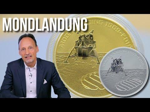 50 JAHRE MONDLANDUNG - DIE GOLD UND SILBER MÜNZEN