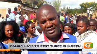 Family lays to rest three children who died in a fire tragedy on 14 February