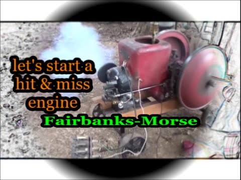 Fairbanks Morse hit and miss engine running