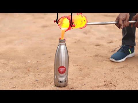 Molten Aluminium in Heat Proof Bottle | क्या यह एलुमिनियम को जमने से रोक सकती हैं?