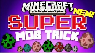 ✔️Minecraft PE 0.15.4 - SUPER MOB TRICK // trick/glitch that makes mobs SUPER! [MCPE 0.15.4]