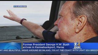 Former President George H.W. Bush Arrives In Kennebunkport, Maine