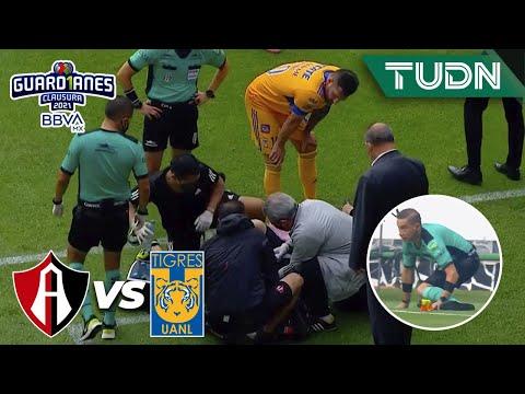¿Se rompió? ¡Abanderado lesionado! | Atlas 0-0 Tigres | Guard1anes 2021 BBVA MX Repechaje | TUDN