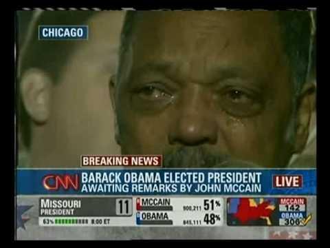 Obamas Victory Crying Jesse Jackson Youtube