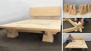 Cama de Madera Moderna Muy Fácil De hacer - Tutorial de Carpintería