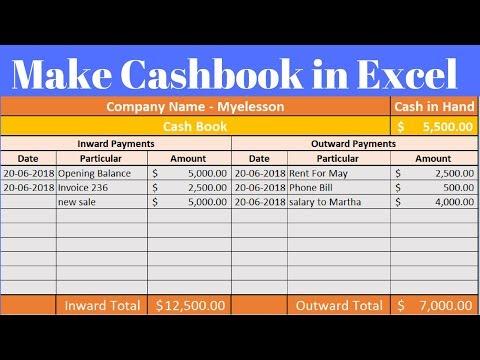Cashbook In Excel