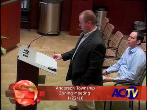 Anderson Township Zoning Meeting 1/22/18