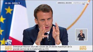 Regardez l'intégralité de l'intervention d'Emmanuel Macron face aux journalistes