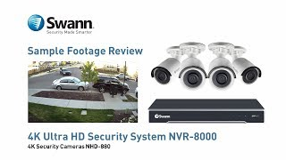 Swann 4K NVR Security Camera Sample CCTV Footage Review - NVR-8000 with NHD-880 cameras