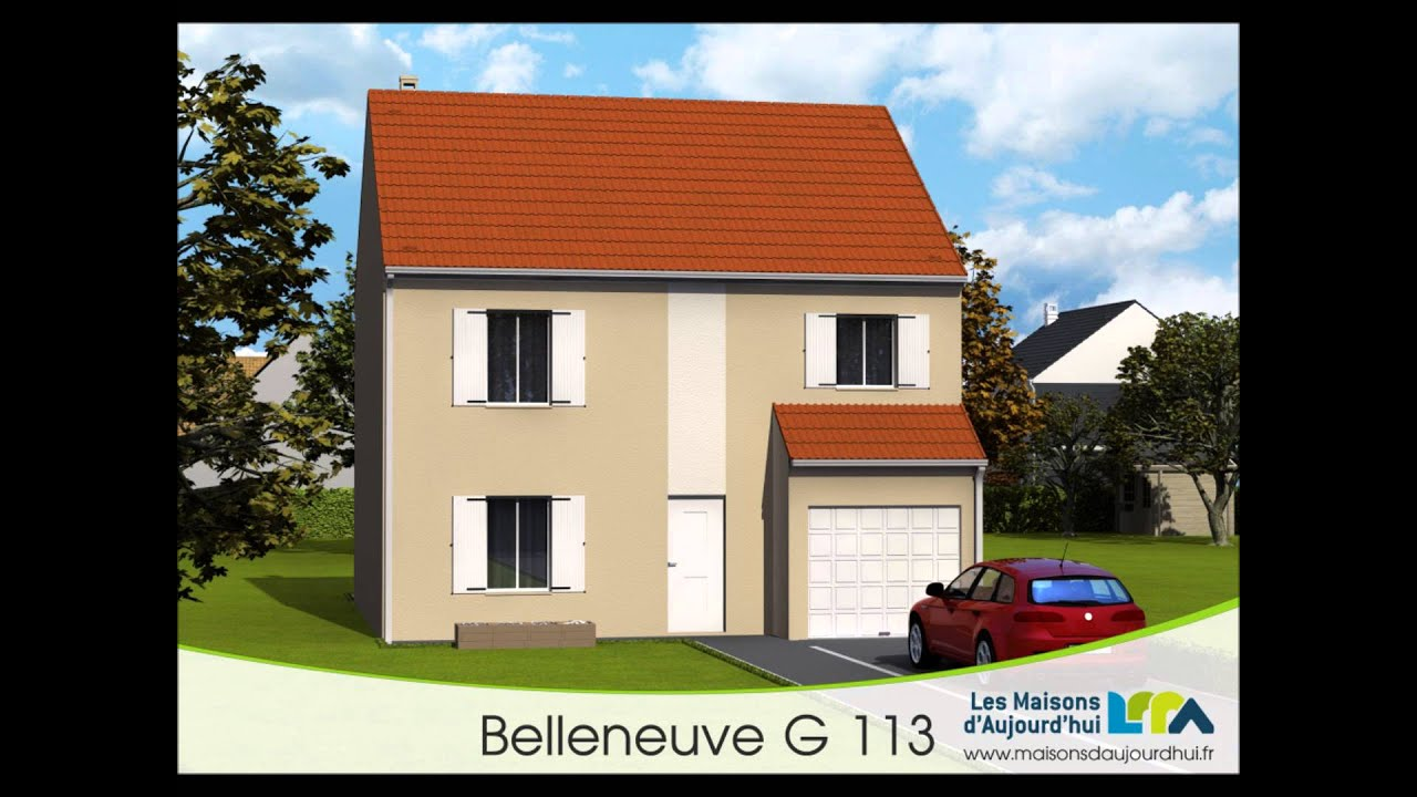 Plan de maison r 1 bbc rt2012 garage int gr groupe for Plans architecturaux des maisons