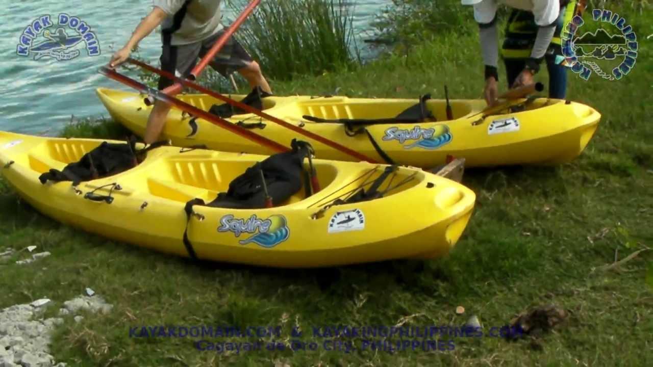Squire Kayak Catamaran Motor Version Setup Youtube