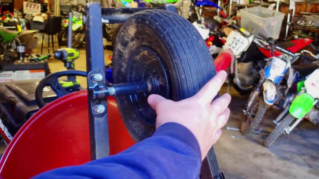 How To Repair A WheelBarrow Wheel! - YouTube