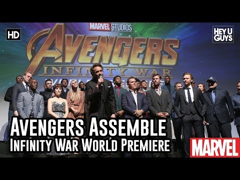 Avengers Assemble on Stage @ Infinity War World Premiere