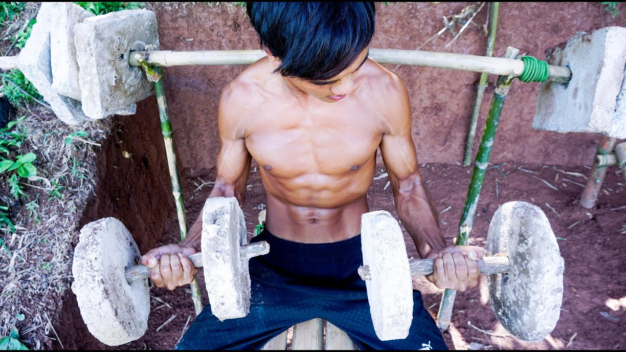 The Man Best Body With Creative Ancient Gym By Primitive Skills