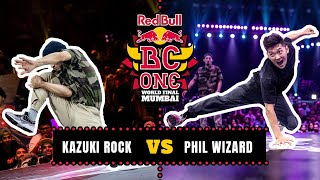 B-Boy Kazuki Rock vs B-Boy Phil Wizard | Top 16 | Red Bull BC One World Final Mumbai 2019
