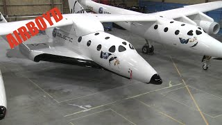 Virgin Galactic SpaceShipTwo SS2 in Hangar