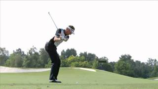 Ian Poulter - slow motion golf swing - iron fairway