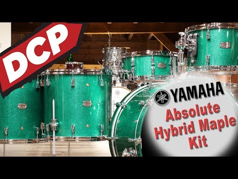 Yamaha Absolute Hybrid Drum Set 24/13/16/18/14 // Demo