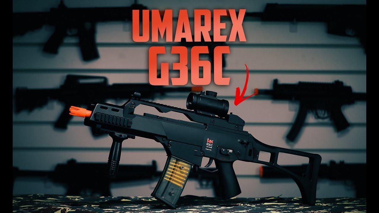 Review Umarex Hk G36c Sportline Aeg Falcon Armas Youtube