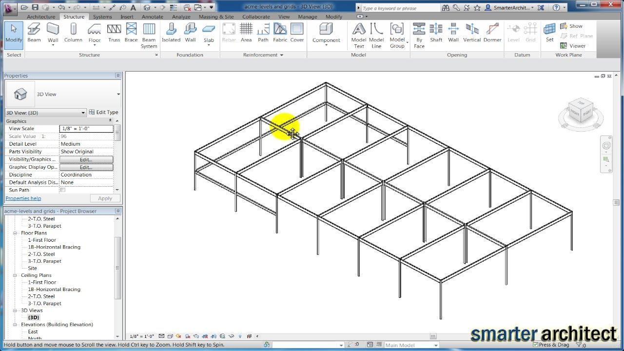 Revit structure 2013 tutorials: modeling revit beams youtube.