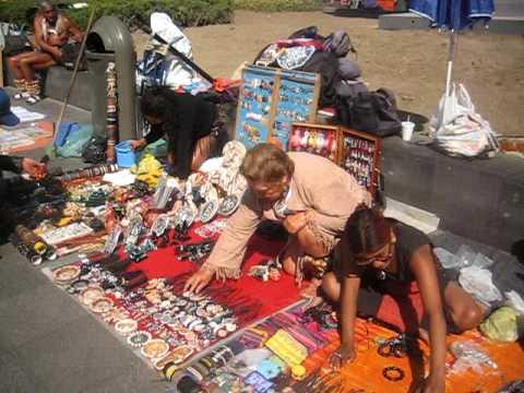 Mexico City street market on a sunday morning.