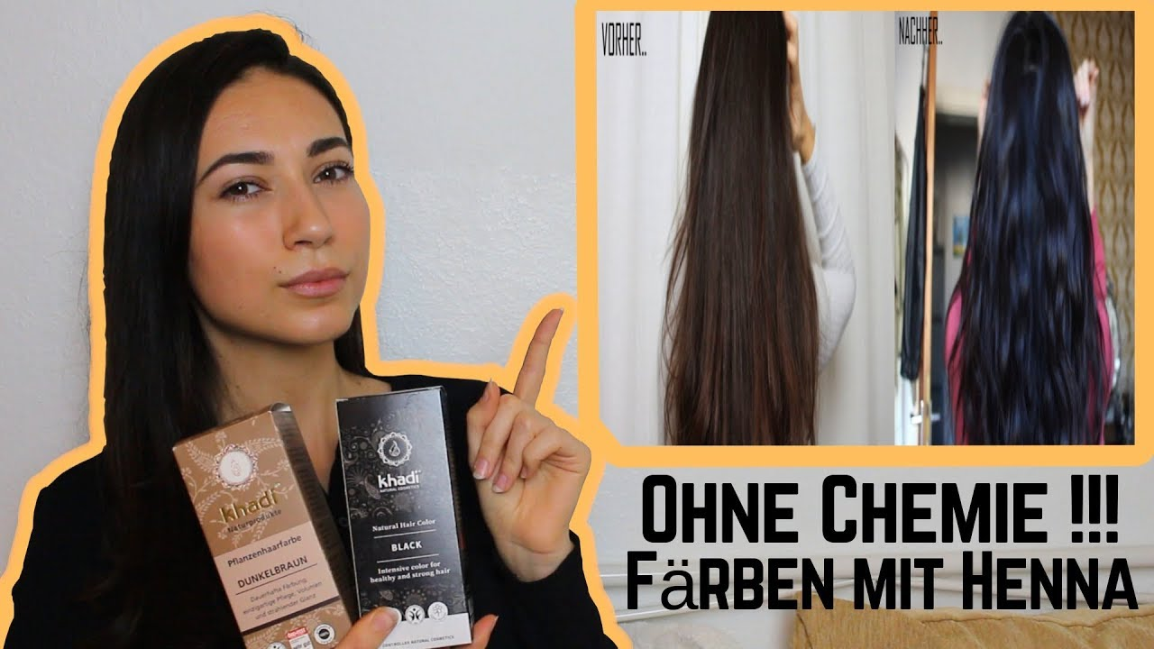 Haare färben mit Henna! Vor- und Nachteile + DEMO - YouTube