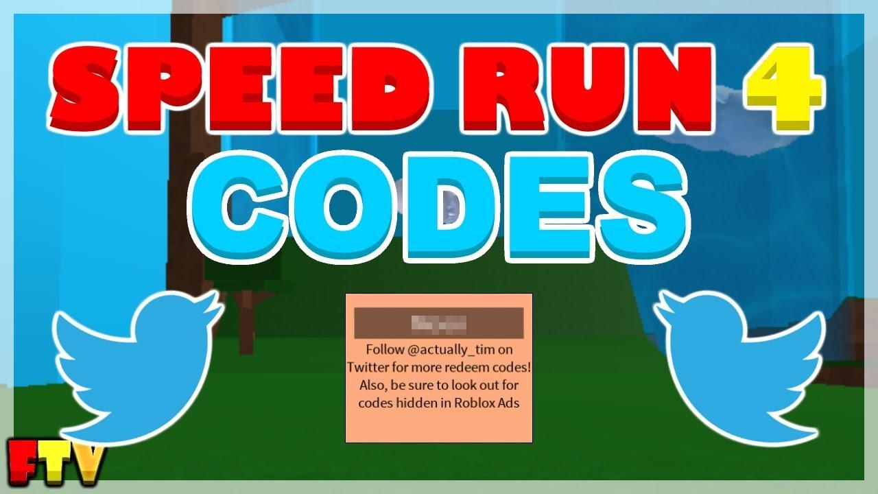 roblox speedrun 4 codes