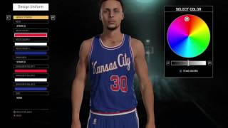 NBA 2K16 Kansas City Kings Jersey and Court Tutorial 4a9b407be