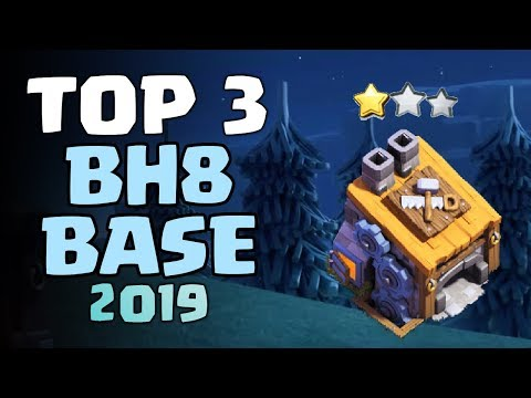 BEST TOP 3 BH8 BASE 2019 W/PROOF | Coc Builder Hall 8 Anti 1 Star Base Layout | Clash Of Clans