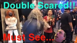 Double Scared At Transworld Halloween Haunt Show
