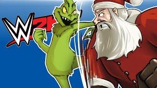wwe 2k17 santa vs the grinch he stole my elf