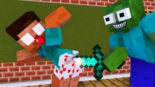 Monster School  Robbery Villager    Minecraft Animation