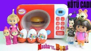 Maşalar Yeni Fırında Ne Yapıyor? Kinder Sürpriz Yumurtaya ne oldu? Çizgi Film