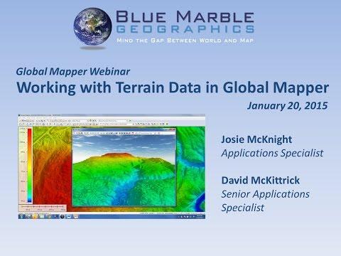 Working with Terrain Data in Global Mapper
