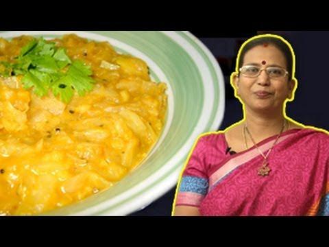 Cabbage Dal | Mallika Badrinath Recipes | Chapathi Side Dishes