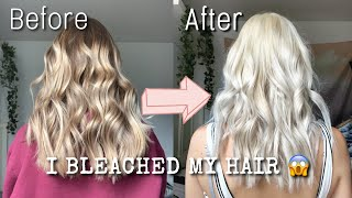 Bleaching my hair PLATINUM BLONDE... (it actually turned out good)