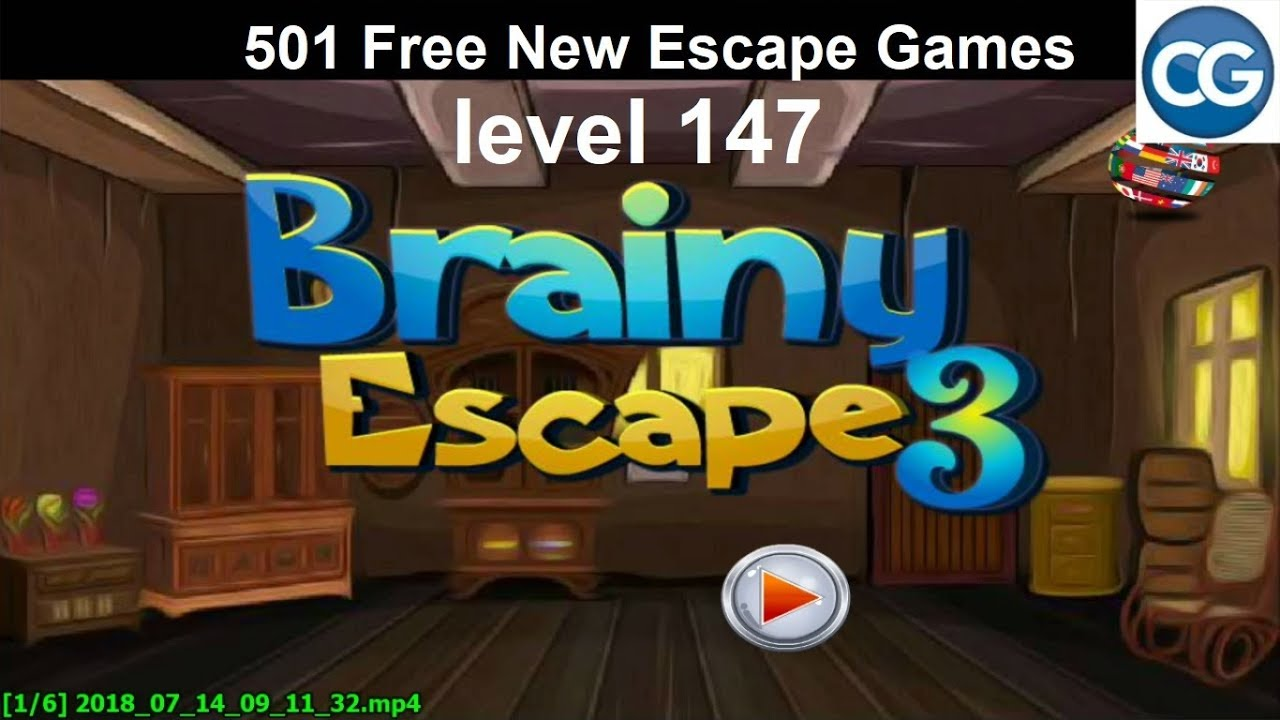 Walkthrough 501 Free New Escape Games Level 147 Brainy