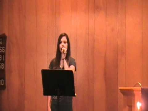 Lindsey Cramer singing Holy Captivated