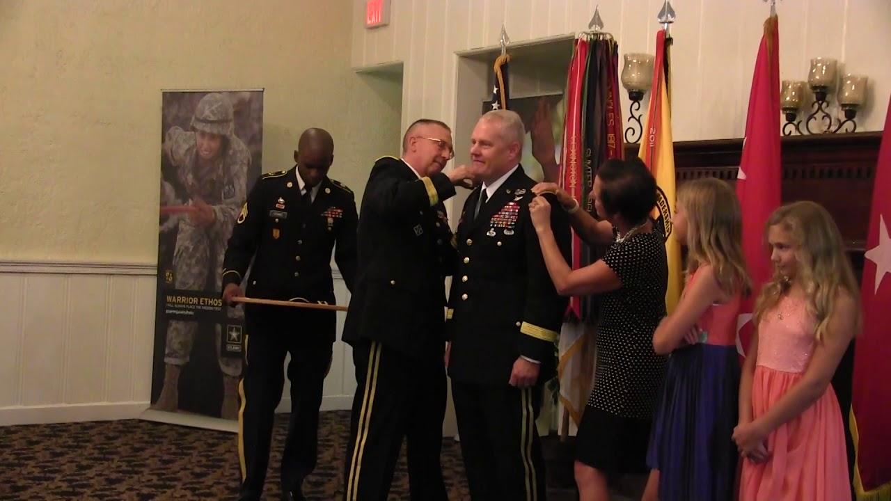 Major General Evans' Promotion Ceremony