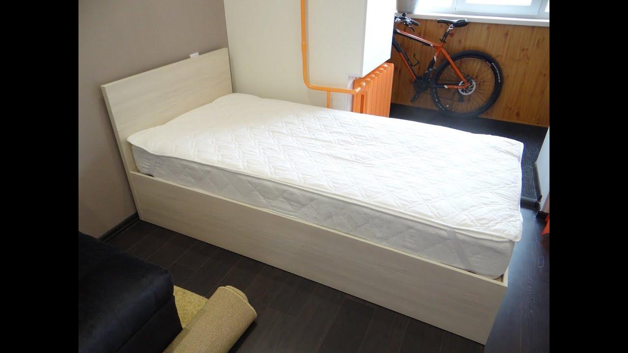 схема сборки ящика кровати с направляющими