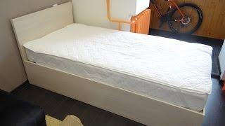 Сборка простой кровати с выдвижным ящиком на шариковых направляющих
