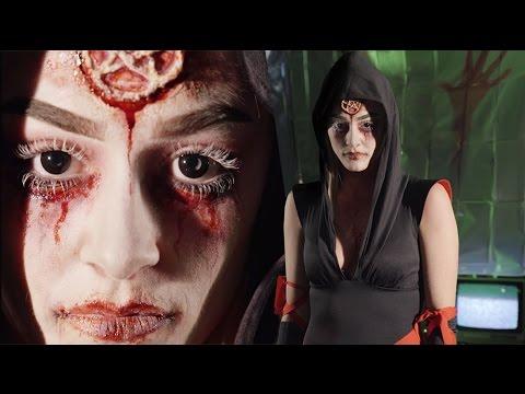 Possessed Dead Girl Halloween Makeup Tutorial 2015 - YouTube