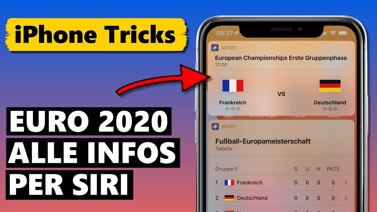 Siri hilft: Euro 2020 Spielplan, Ergebnisse & Tabellen (Fußball Europameisterschaft 2021)