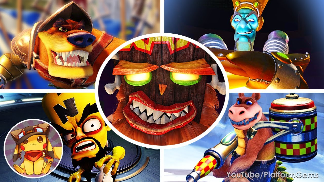 All Boss Fights & Ending - Crash Bandicoot 3: Warped (N. Sane Trilogy) [No Damage]