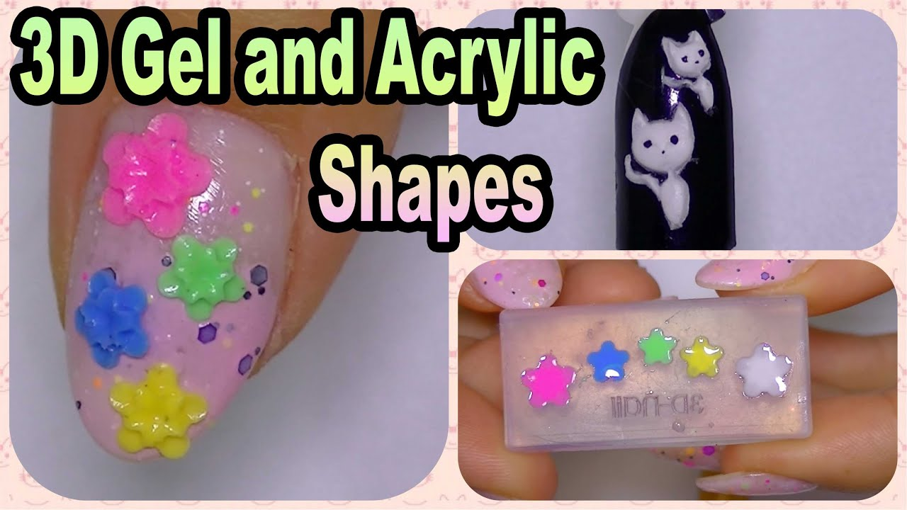 How to 3d gel and acrylic shapes using molds banggood com youtube how to 3d gel and acrylic shapes using molds banggood com chic pretty nails prinsesfo Images