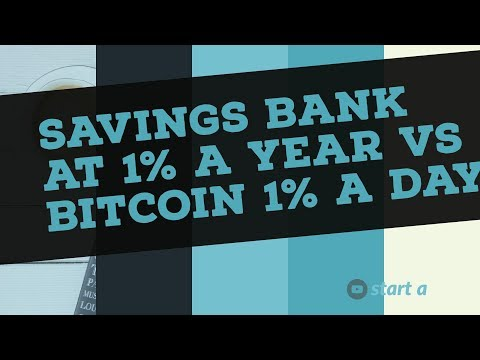 Savings Bank 1% Interest Per Year Vs Bitcoin Investments 1% Per Day