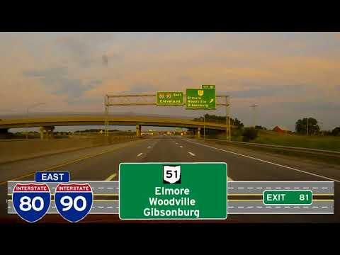 Ohio 2016 I80 90 Exit 59 to Mile 100 Service Plaza