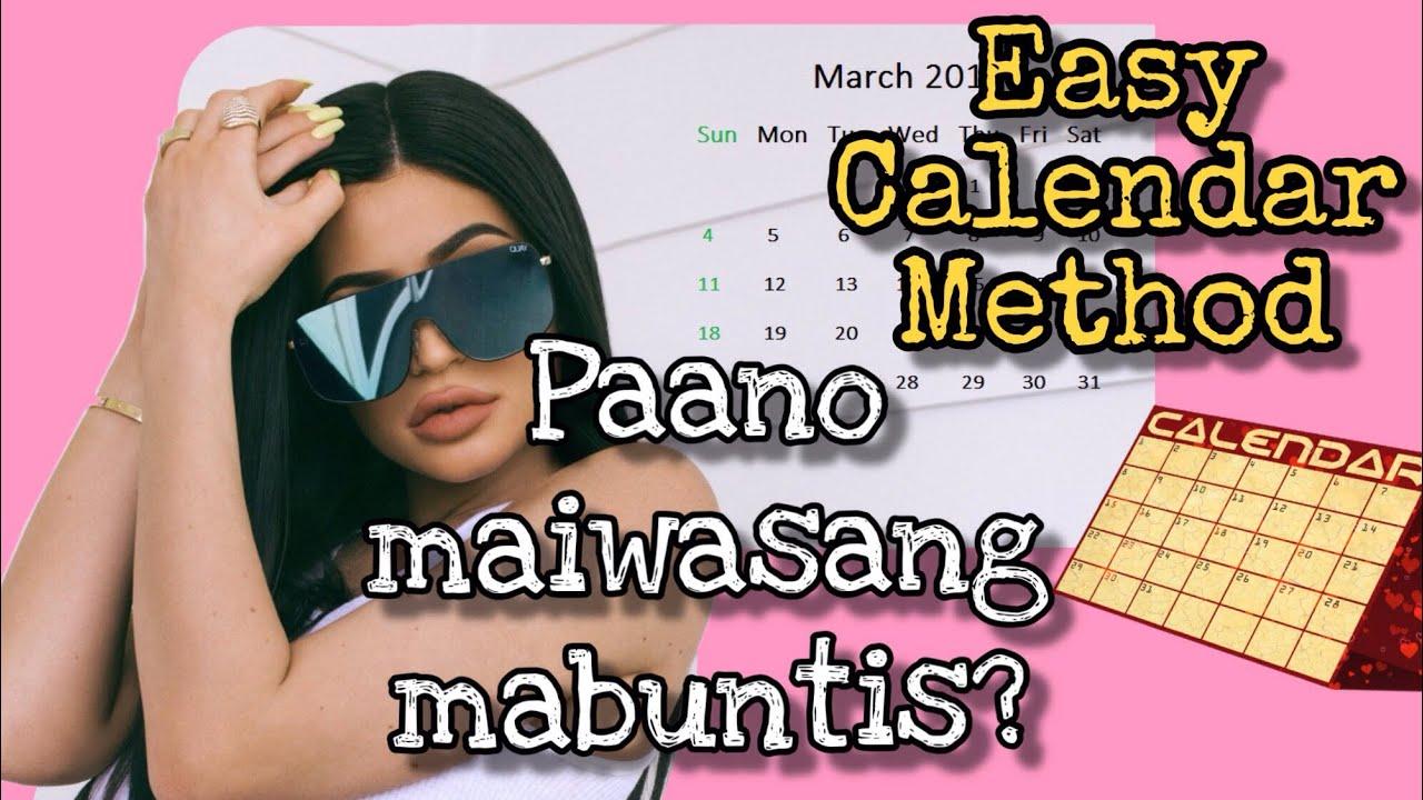 EASY Calendar Method to Avoid Pregnancy | Paano Hindi Mabuntis