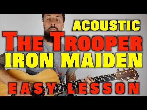 The Trooper Iron Maiden Easy Guitar Lesson
